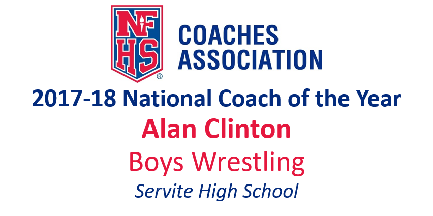 Alan Clinton: National Boys Wrestling National Coach of the Year (2017-18)