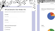 Google Forms Used as Assessment, Organizational Tool for Choir