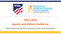 Return to Speech and Debate Guidance