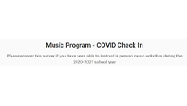 Music Program – COVID Check In (Survey)